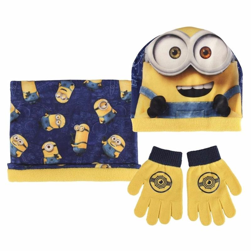 Geel-blauwe Minions winterset voor jongens