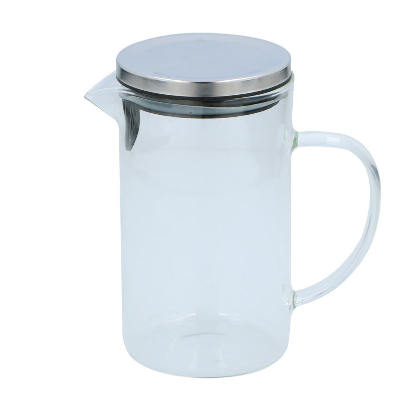 Glazen karaf met deksel en handvat 1,0 L