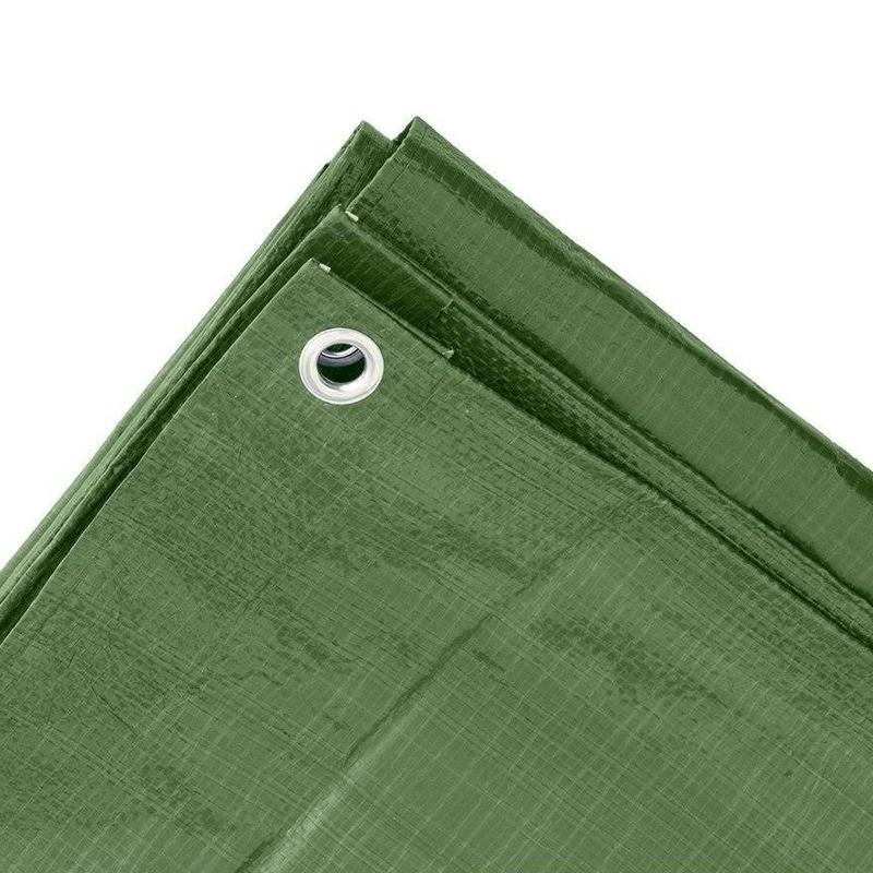 Groen afdekzeil-dekzeil 8 x 10 meter