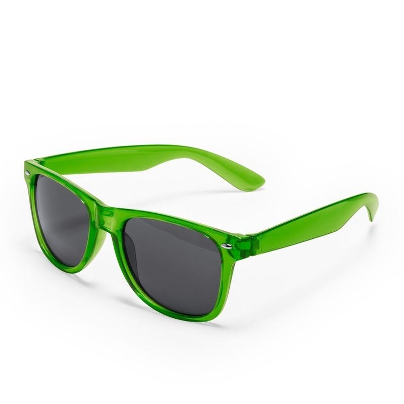 Groene verkleed accessoire zonnebril voor volwassenen