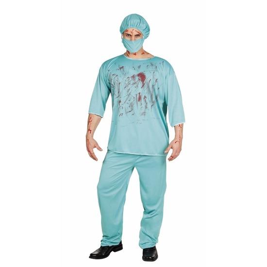 Halloween bloederige chirurg kostuum heren
