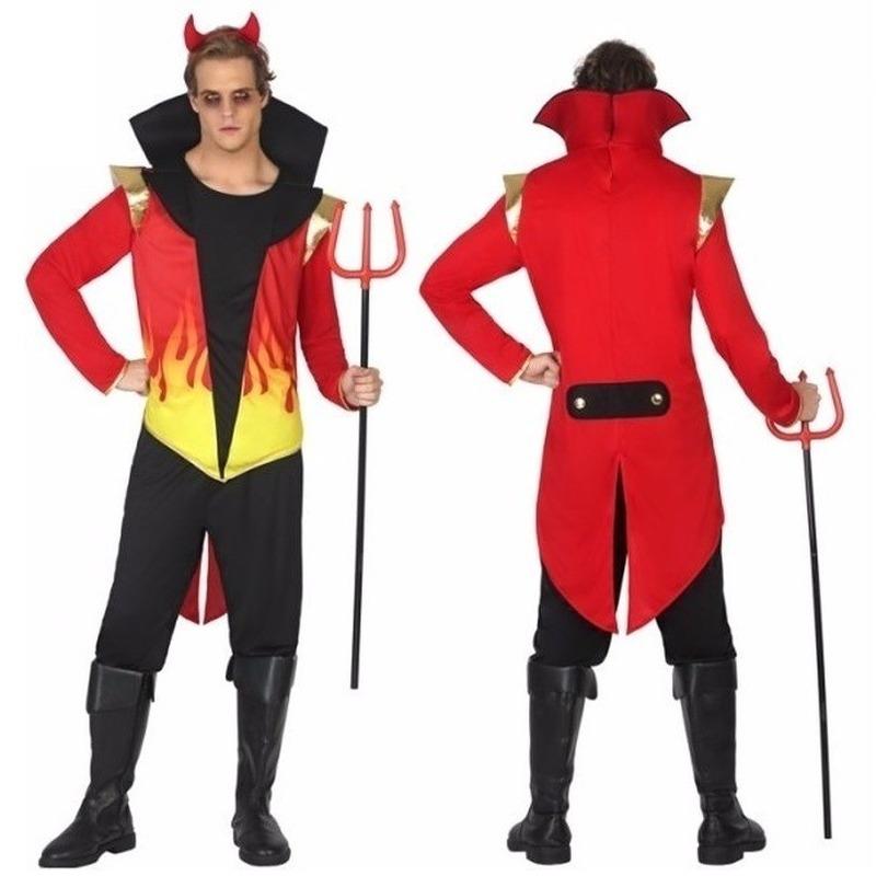 Halloween duivel heren kostuum met vlammen