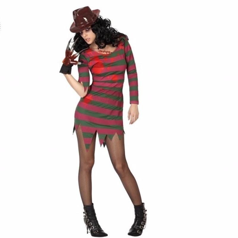 Halloween Freddy kostuum voor dames
