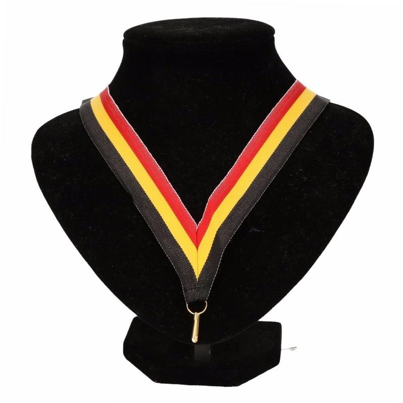 Halslint zwart-geel-rood