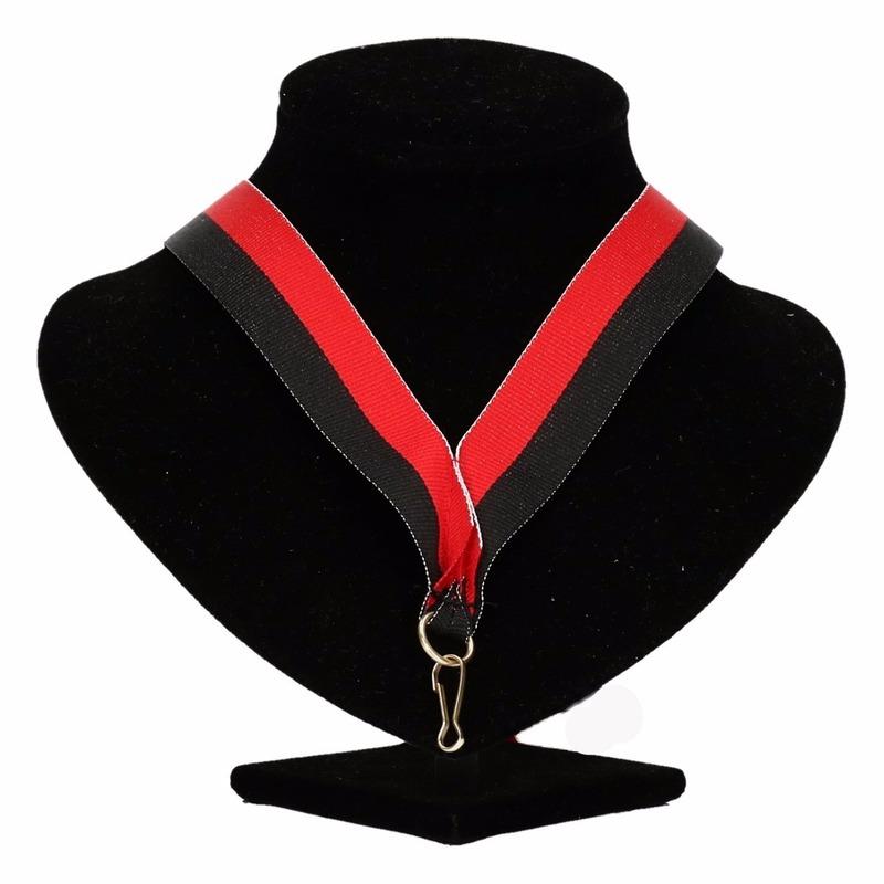 Halslint zwart-rood