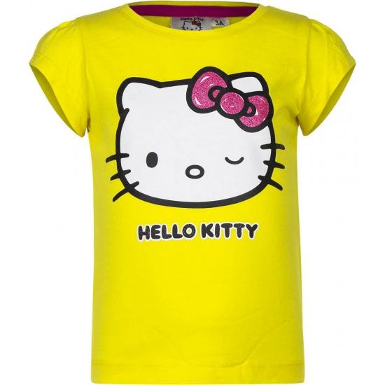 Hello Kitty t-shirt geel