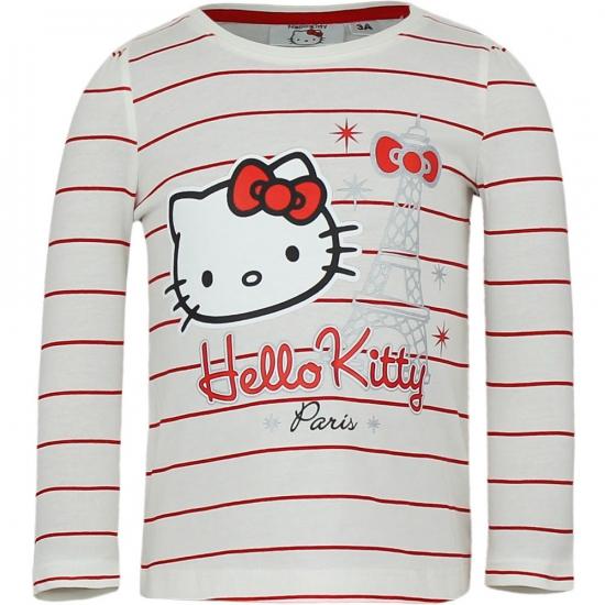 Hello Kitty t-shirt wit met rood