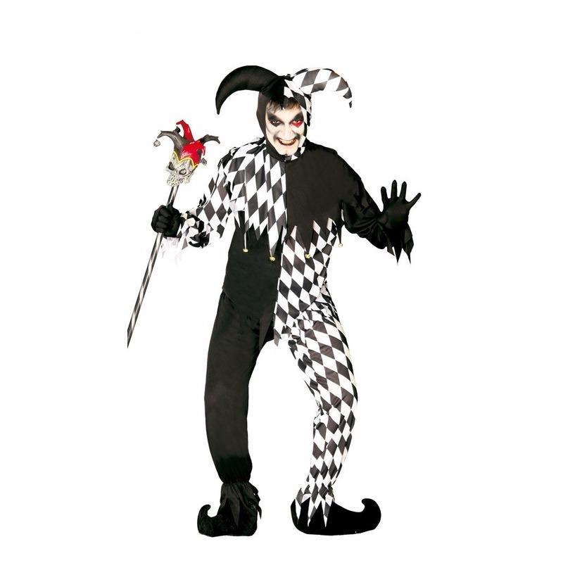 Horror harlekijn kostuum voor heren