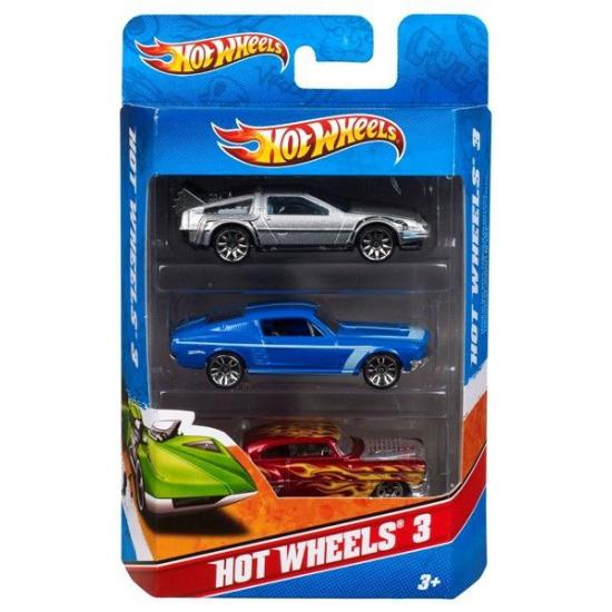 Hot Wheels raceauto speelset 3 stuks