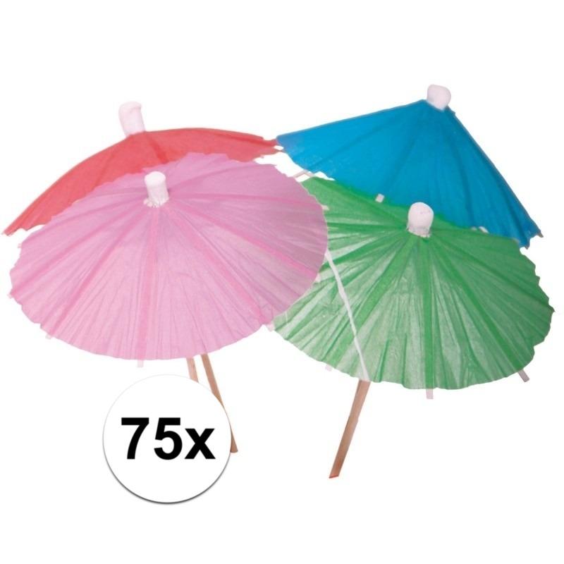 IJs parasols gekleurd 75 stuks