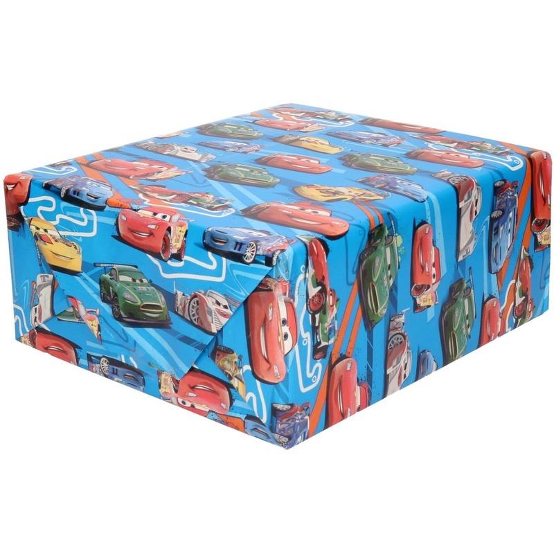 Inpakpapier-cadeaupapier Disney Cars blauw 200 x 70 cm