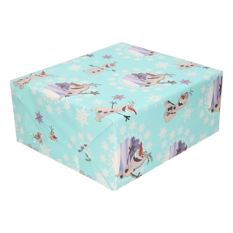 Inpakpapier-cadeaupapier Disney Frozen Olaf 200 x 70 cm groen