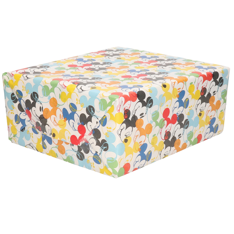 Inpakpapier-cadeaupapier Disney Mickey Mouse gekleurd 200x70 cm