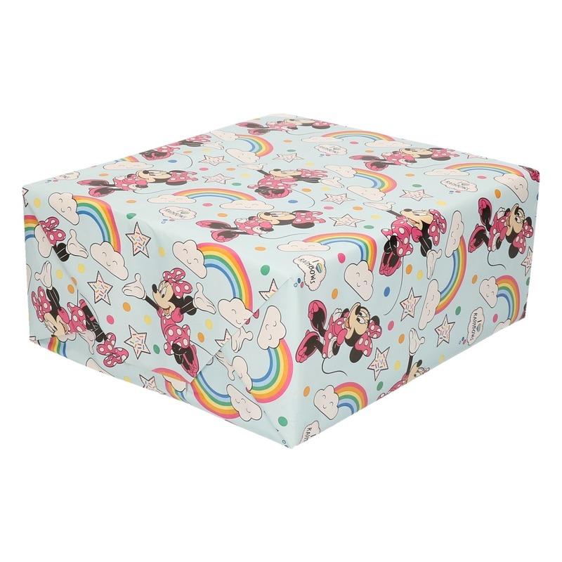 Inpakpapier-cadeaupapier Disney Minnie Mouse regenboog 200x70 cm