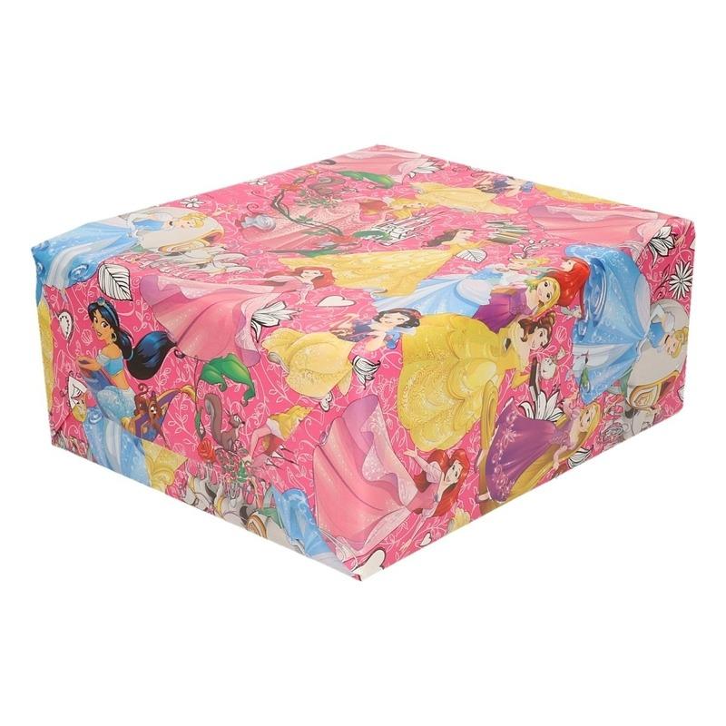 Inpakpapier-cadeaupapier Disney Princess 200 x 70 cm roze