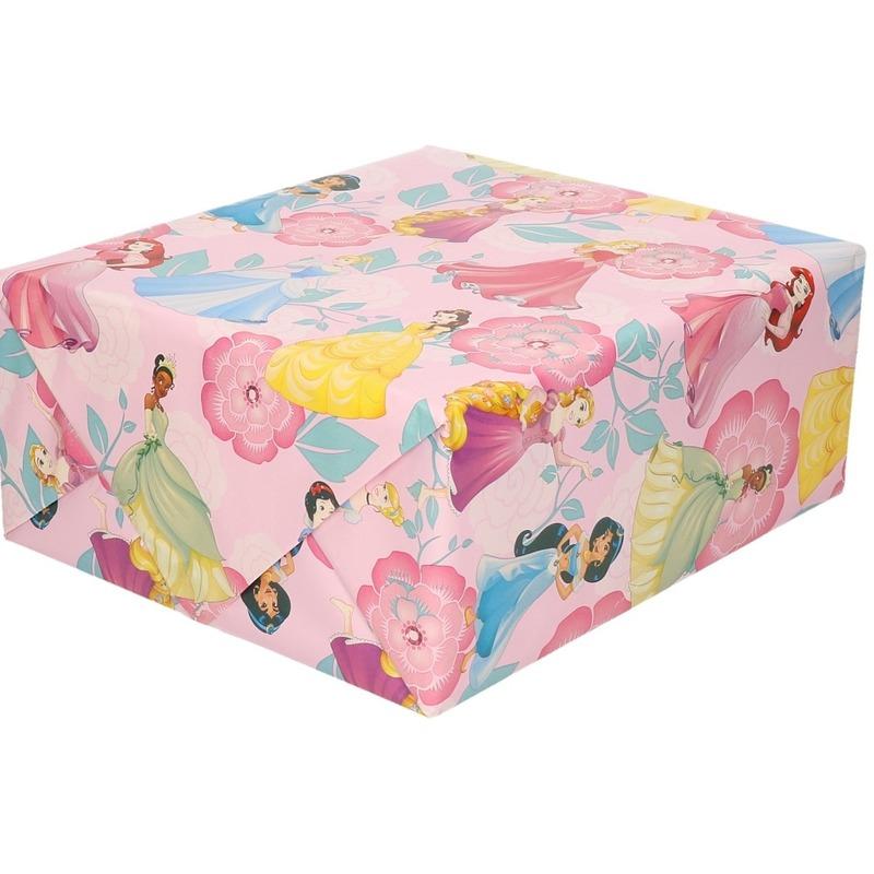 Inpakpapier-cadeaupapier Disney Princess roze 200x70 cm