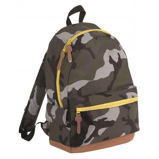Junior camouflage schooltas rugtas-rugzak 42 cm
