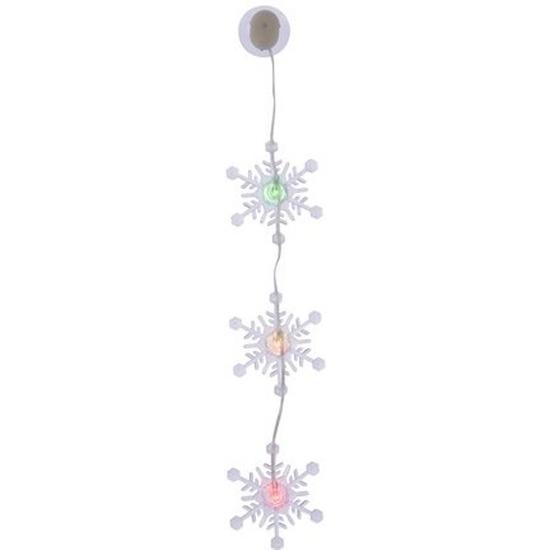 Kerst decoratie sneeuwvlok slinger type 2 met LED verlichting