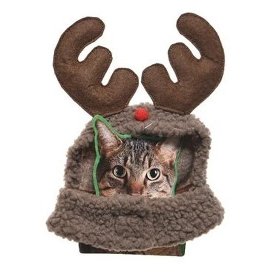 Kerstkleding rendierenpak voor katten-poezen