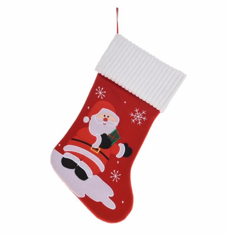 Kerstsok met Kerstman 46 cm