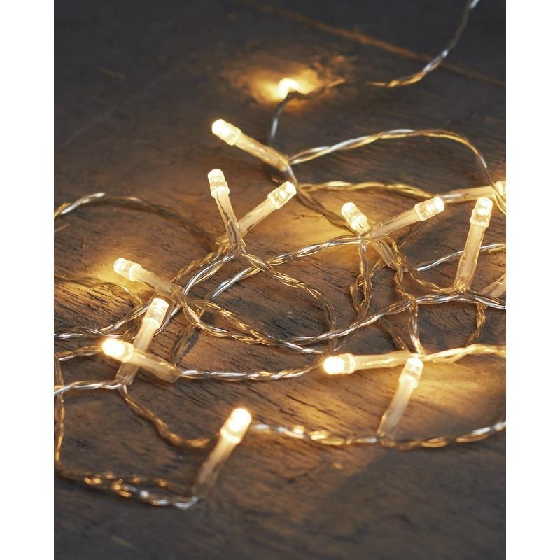 Kerstverlichting op batterijen warm wit 20 lampjes 200 cm