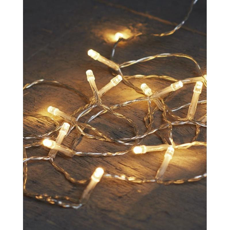 Kerstverlichting op batterijen warm wit 40 lampjes 400 cm