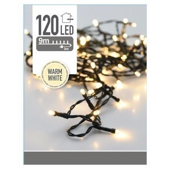 Kerstverlichting warm witte kerstlampjes 120 lichtjes