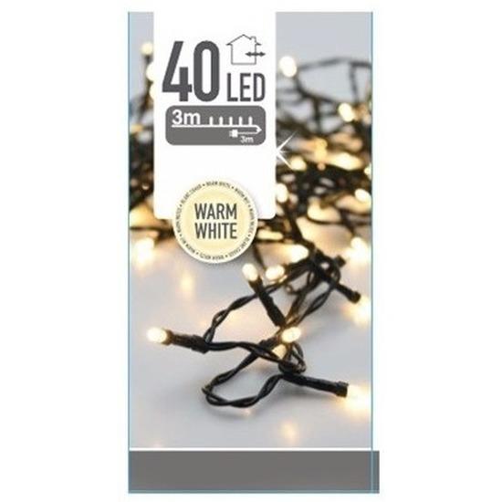 Kerstverlichting warm witte kerstlampjes 40 lichtjes