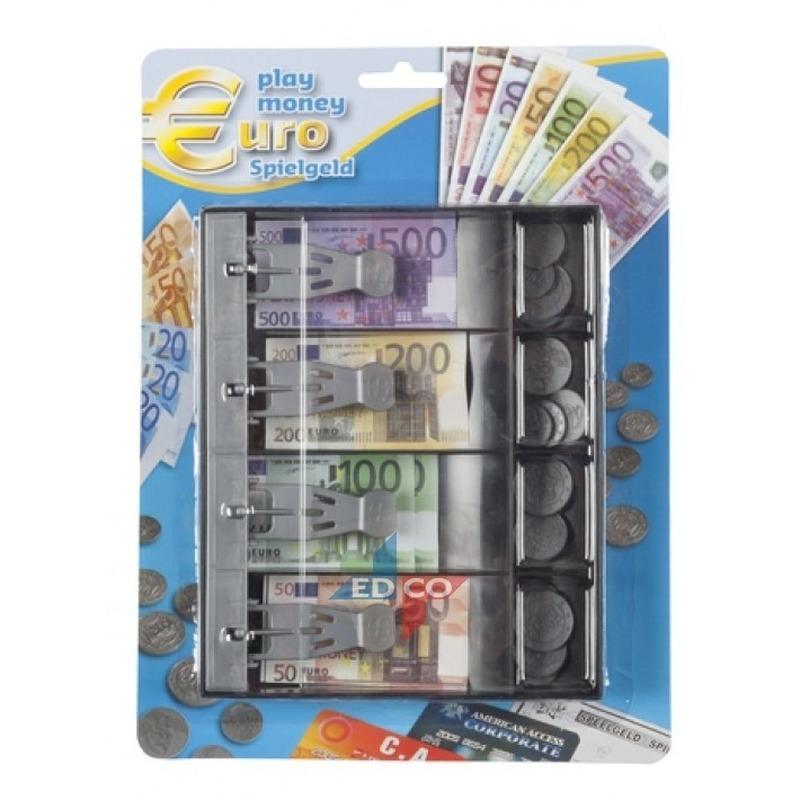 Kinder speelgeld set in lade 24 delig