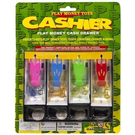 Kinder speelgoed geld set in kassalade