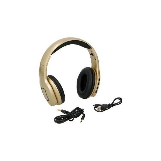 Koptelefoon-Hoofdtelefoon stereo goudkleur draadloos bluetooth