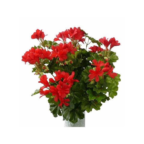 Kunstplanten Oostenrijkse geranium rood 40 cm