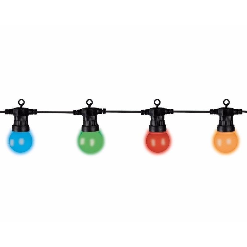 Lumineo buitenverlichting 20 gekleurde lampbolletjes 10 m