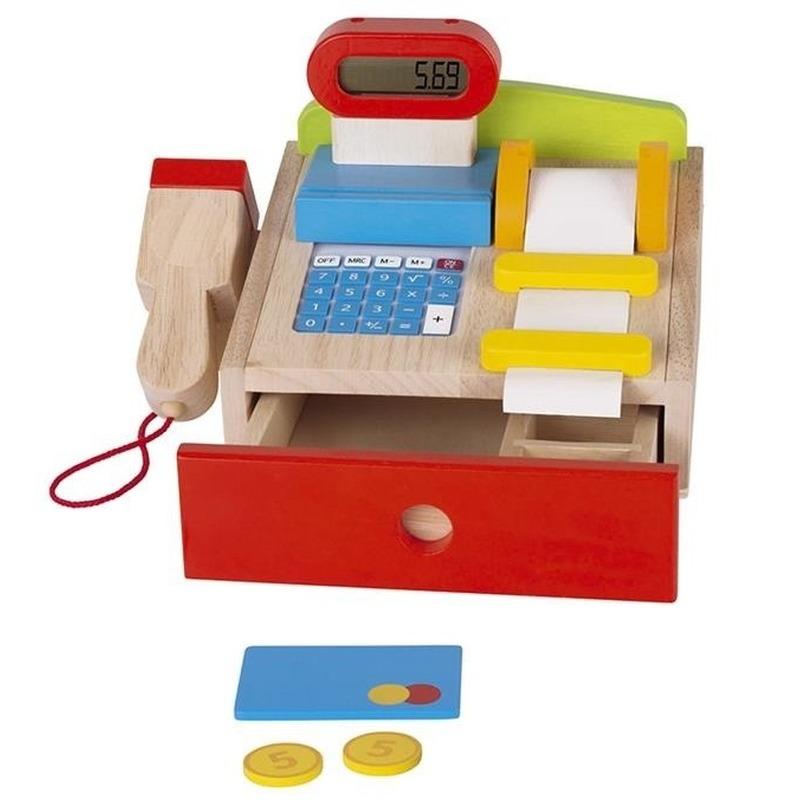 Luxe houten speelgoed kassa