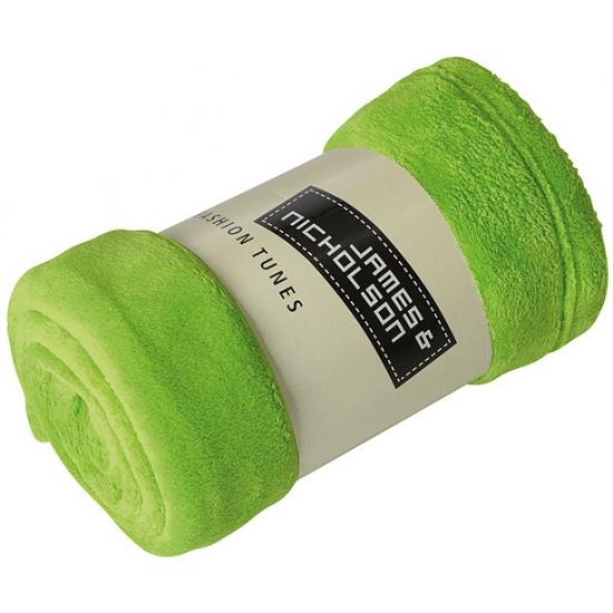 Microvezel fleece deken lime