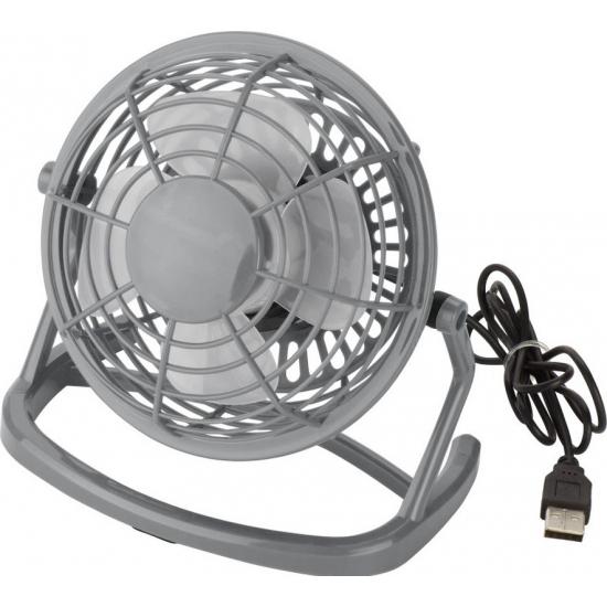 Mini bureau ventilator USB grijs