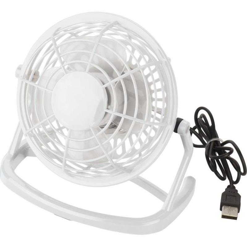 Mini bureau ventilator USB wit