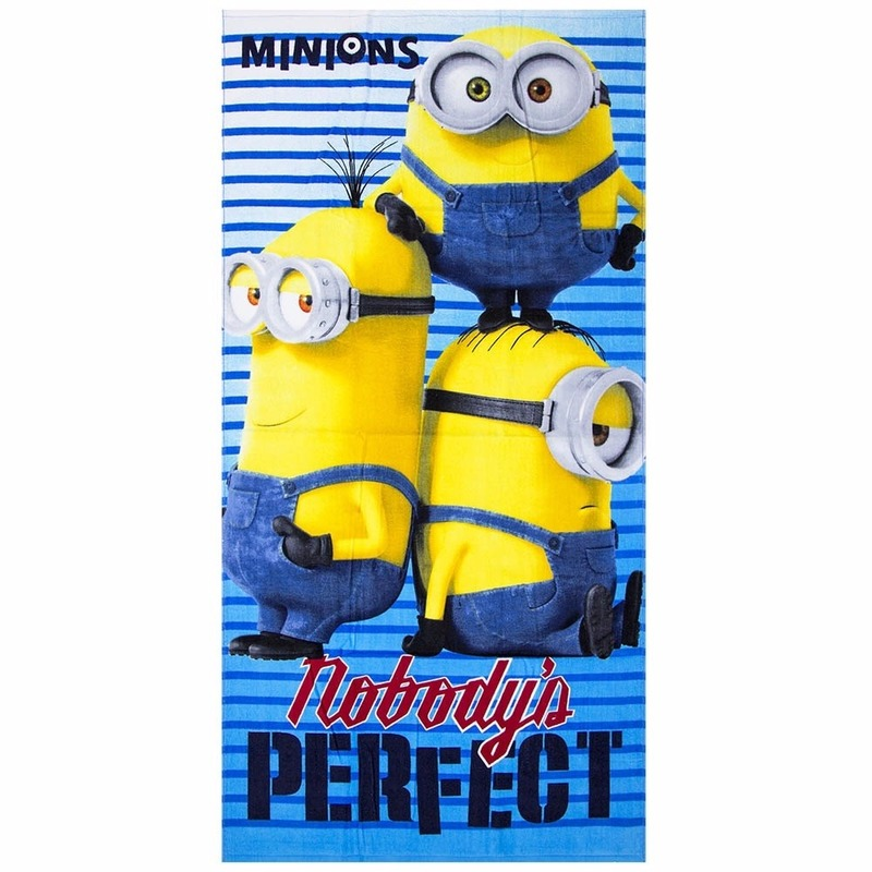 Minions nobody is perfect badlaken 70 x 140 cm