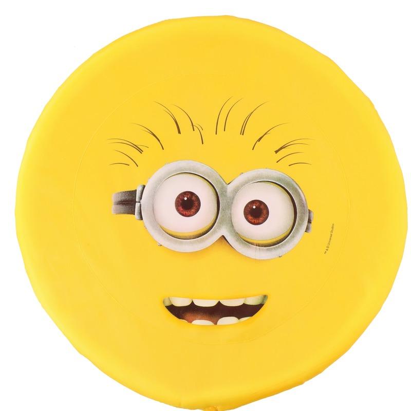 Minions schuim frisbee geel twee ogen 42 cm