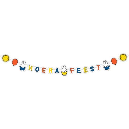 Nijntje themafeest wenslijn-letterslinger 218 x 12 cm