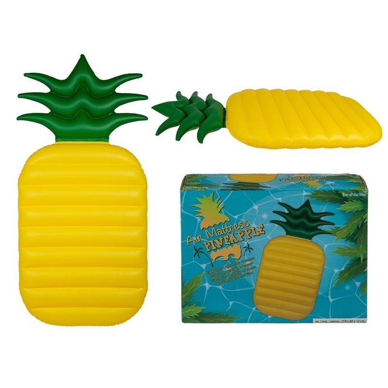 Opblaasbaar luchtbed ananas 165 cm
