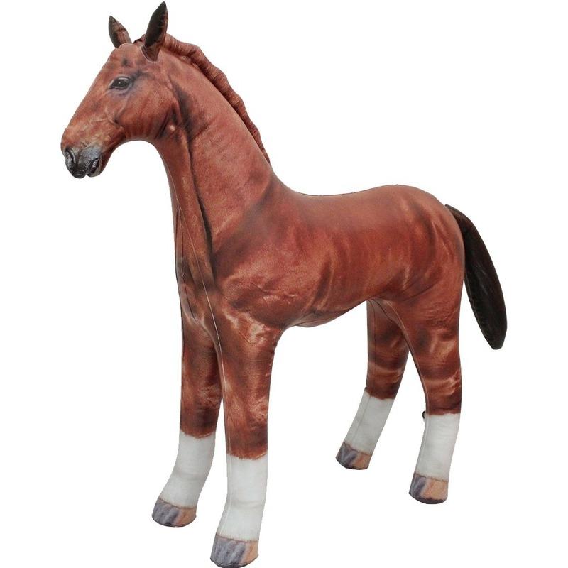 Opblaasbaar paard 75 cm decoratie-speelgoed