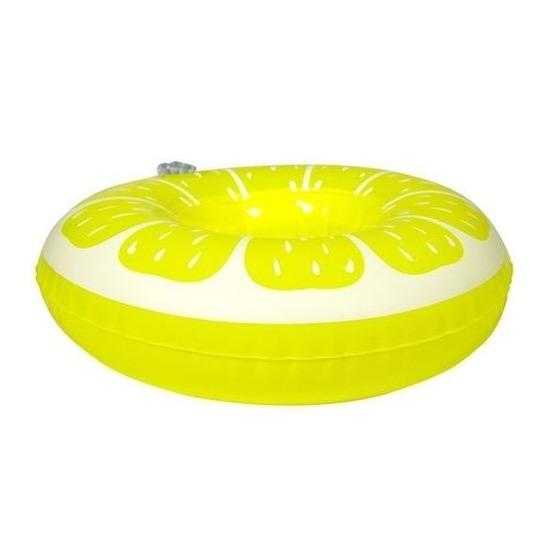 Opblaasbare drankhouder citroen 19 cm