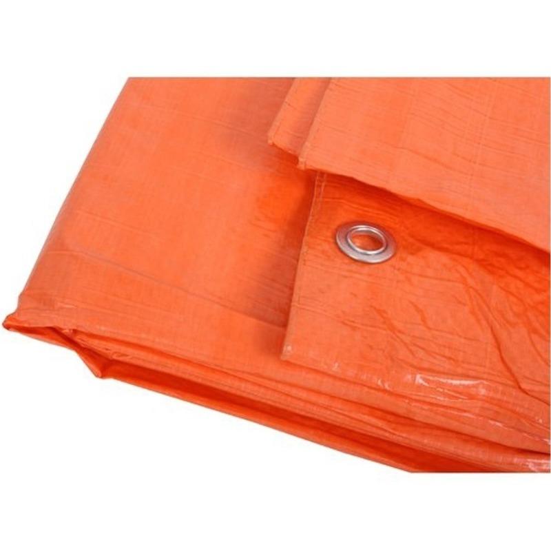 Oranje afdekzeil-dekzeil 8 x 12 meter