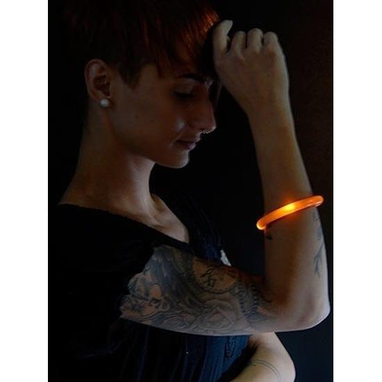 Oranje LED licht wikkel armband voor volwassenen