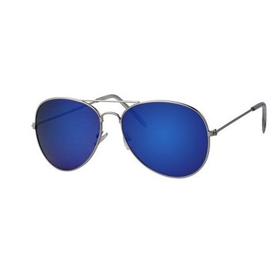 Piloten zonnebril-feestbril met blauwe glazen voor volwassenen