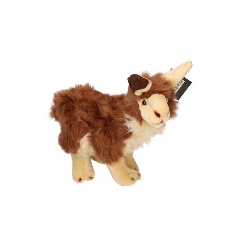 Pluche bruine lama knuffel 35 cm
