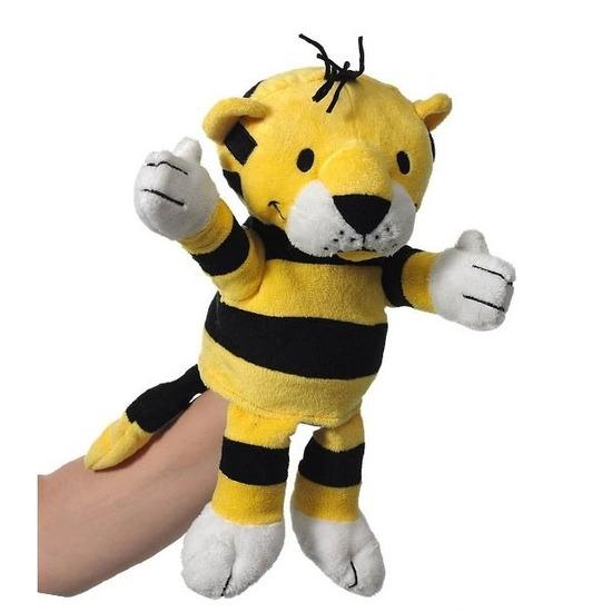 4944c104344353 Pluche handpop tijger. pluche knuffel handpop van ongeveer 22 cm in de vorm  van een