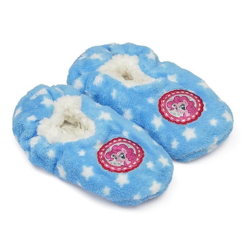 Pluche My Little Pony pantoffels-sloffen blauw voor meisjes