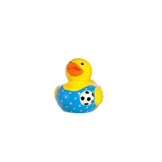 Porseleinen spaarpot voetbal badeend 12cm